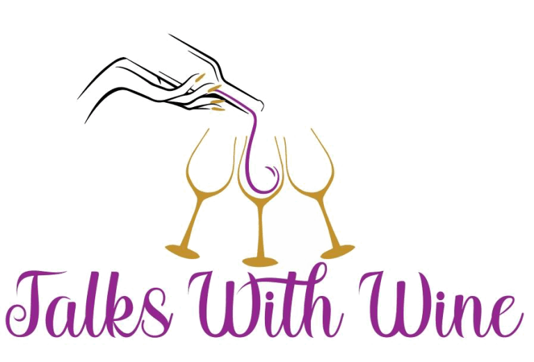 Talk with wine podcast logo